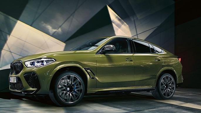 BMW X6 M Competition schräge Ansicht